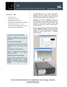 Test instrumentation for materials and energy
