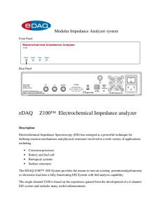 eDAQ Z100™ Electrochemical Impedance analyzer