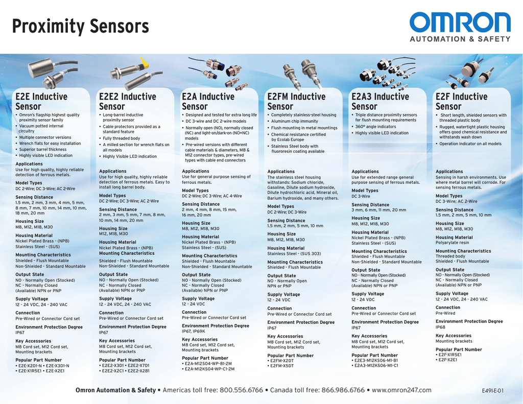 Omron Proximity Sensors Brochure