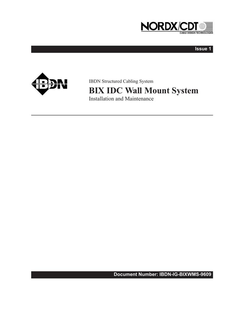 Bix Installation Guide Cdt Wiring Diagram