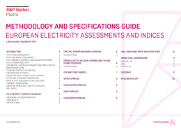methodology and specifications guide european electricity