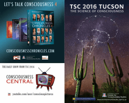 www.consciousness.arizona.edu | April 25-30