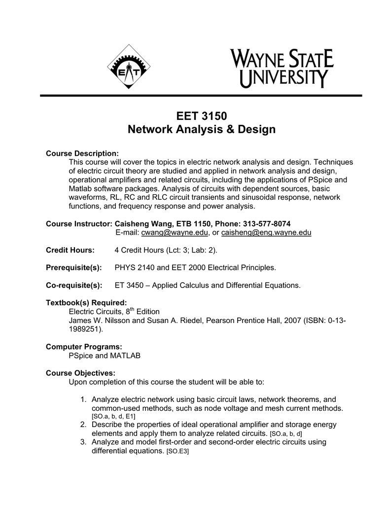 EET 3150 - Wayne State University