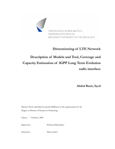 Dimensioning of LTE Network