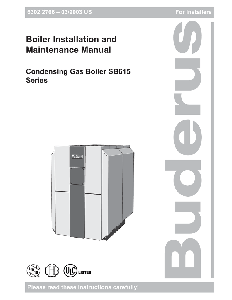 Boiler Installation and Maintenance Manual