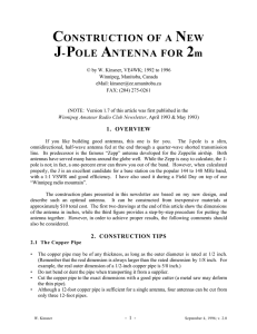 J-Pole Antenna Construction