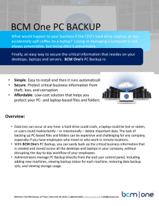 BCM One PC BACKUP