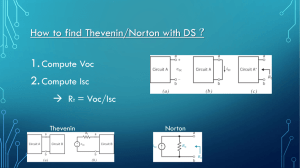 How to find thevenin/ norton with DS ?