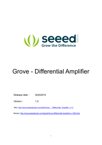 Grove - Differential Amplifier