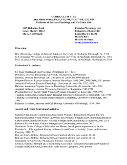 curriculum vitae - University of Louisville