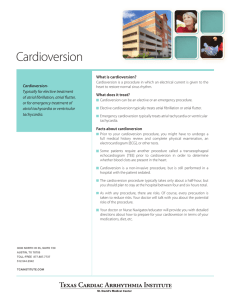 Cardioversion - Texas Cardiac Arrhythmia Institute