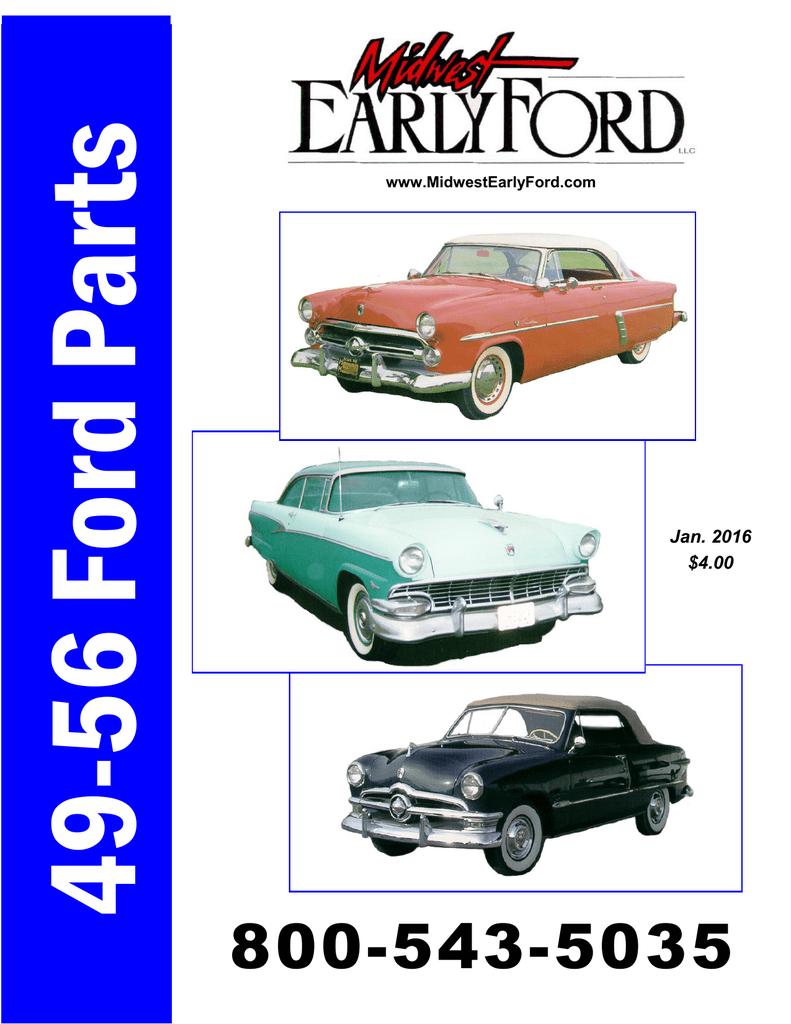 1952-54 FORD /& MERCURY CAR BACK WINDOW SEAL                         BA-7042084-F