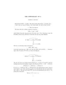 THE COHOMOLOGY OF ku Recall that H∗HZ = A/ASq 1. We wish to