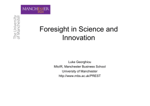 Foresight in Science and Innovation