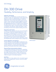 DV-300 Drive - GE Industrial Solutions