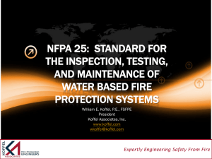 nfpa 25: standard for the inspection, testing, and maintenance
