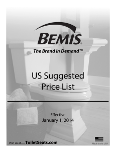 US Suggested Price List