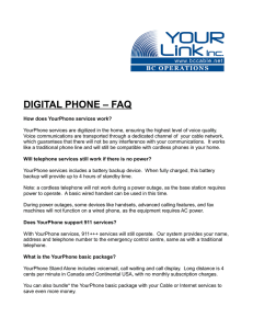 DIGITAL PHONE – FAQ - Copper Valley Cable