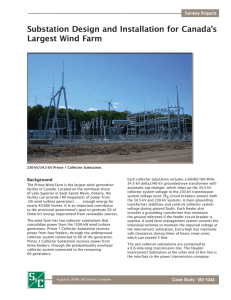 Substation Design and Installation for Canada`s Largest Wind Farm