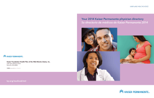 Your 2014 Kaiser Permanente physician directory Su directorio de