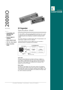2000IO Specification sheet, issue 2