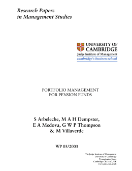 an analysis of the investment management for the pension funds in 1991 Managing risk is managing investments one of the reasons ontario teachers' is considered an innovative leader among pension funds is our approach to understanding and measuring risk and actively managing funding and investment risk together.