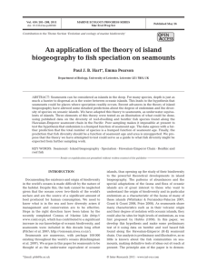An application of the theory of island biogeography to fish speciation