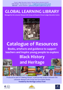 Catalogue of Resources - Leicester Masaya Link Group