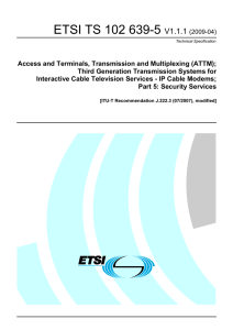 Access and Terminals, Transmission and Multiplexing (ATTM)