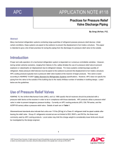 Practices for Pressure Relief valve discharge piping