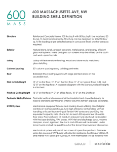 Building Spec Sheet - 600 Massachusetts Avenue
