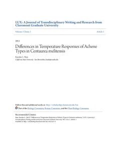 Differences in Temperature Responses of Achene Types in