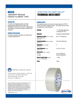 technical data sheet rg315