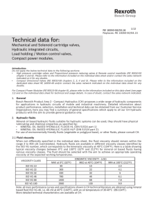 Technical data for