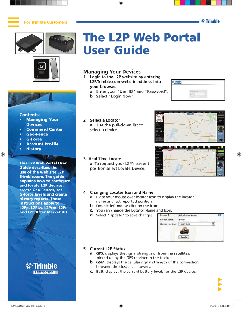 The L2P Web Portal User Guide