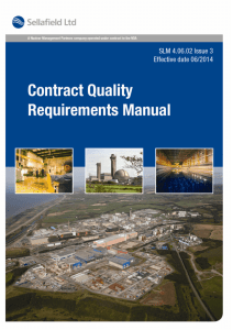 Contract Quality requirements