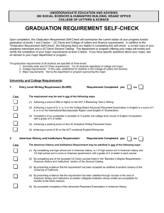 graduation requirement self-check