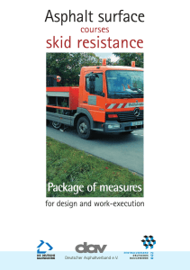Asphalt surface courses skid resistance