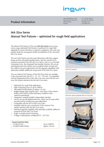 Product Information MA 32xx Series Manual Test Fixtures
