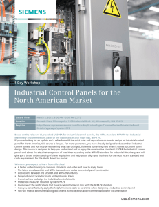 Industrial Control Panels for the North American Market