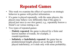 Repeated Games - UCSB Economics