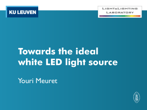 Towards the ideal white LED light source