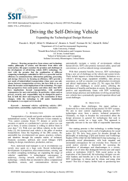 Driving the Self-Driving Vehicle