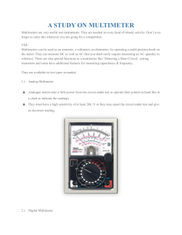 A STUDY ON MULTIMETER
