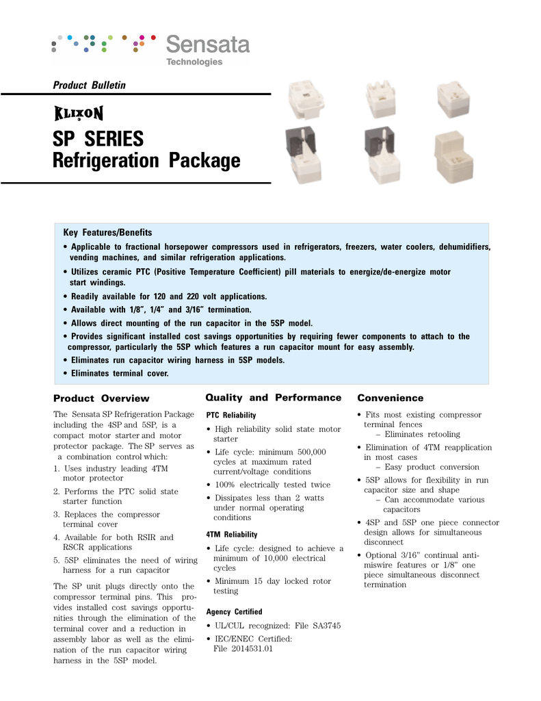 SP SERIES Refrigeration Package