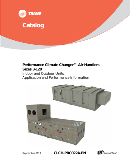 Performance Climate Changer™ Air Handlers Sizes 3-120