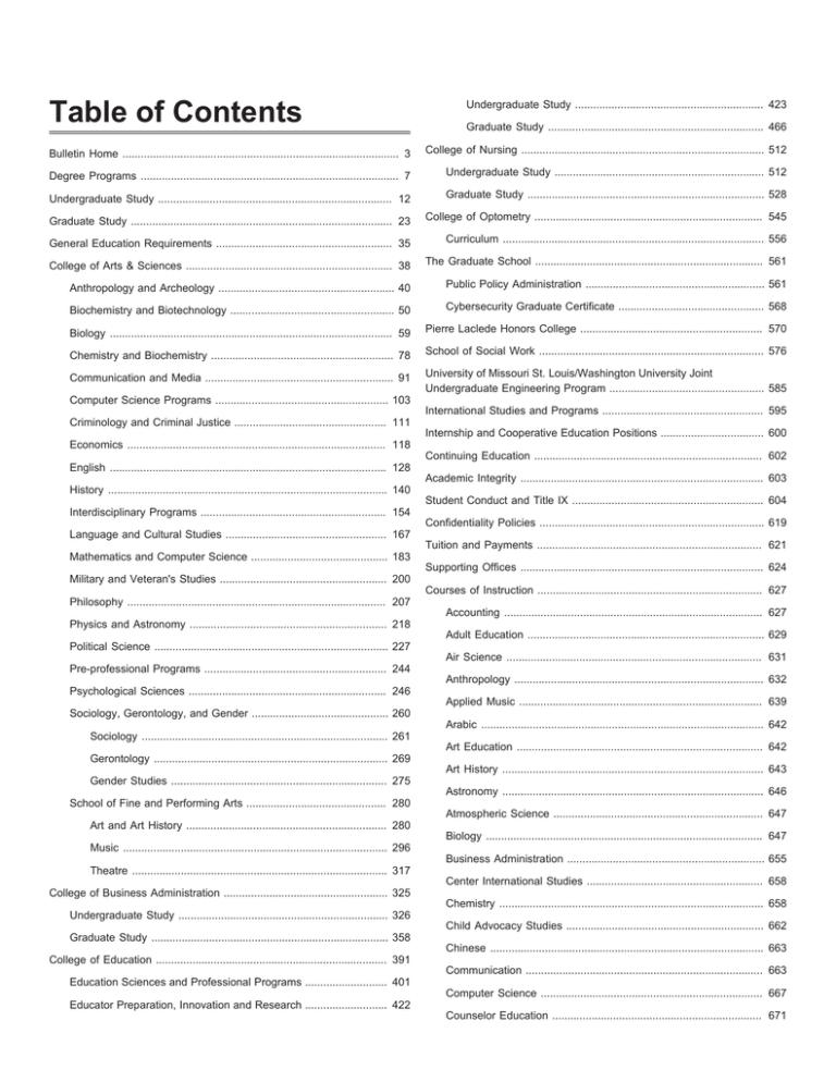 Umsl Academic Calendar 2022.University Of Missouri St Louis 2016