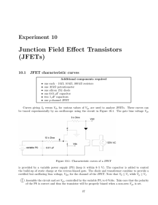 Junction Field Effect Transistors (JFETs)