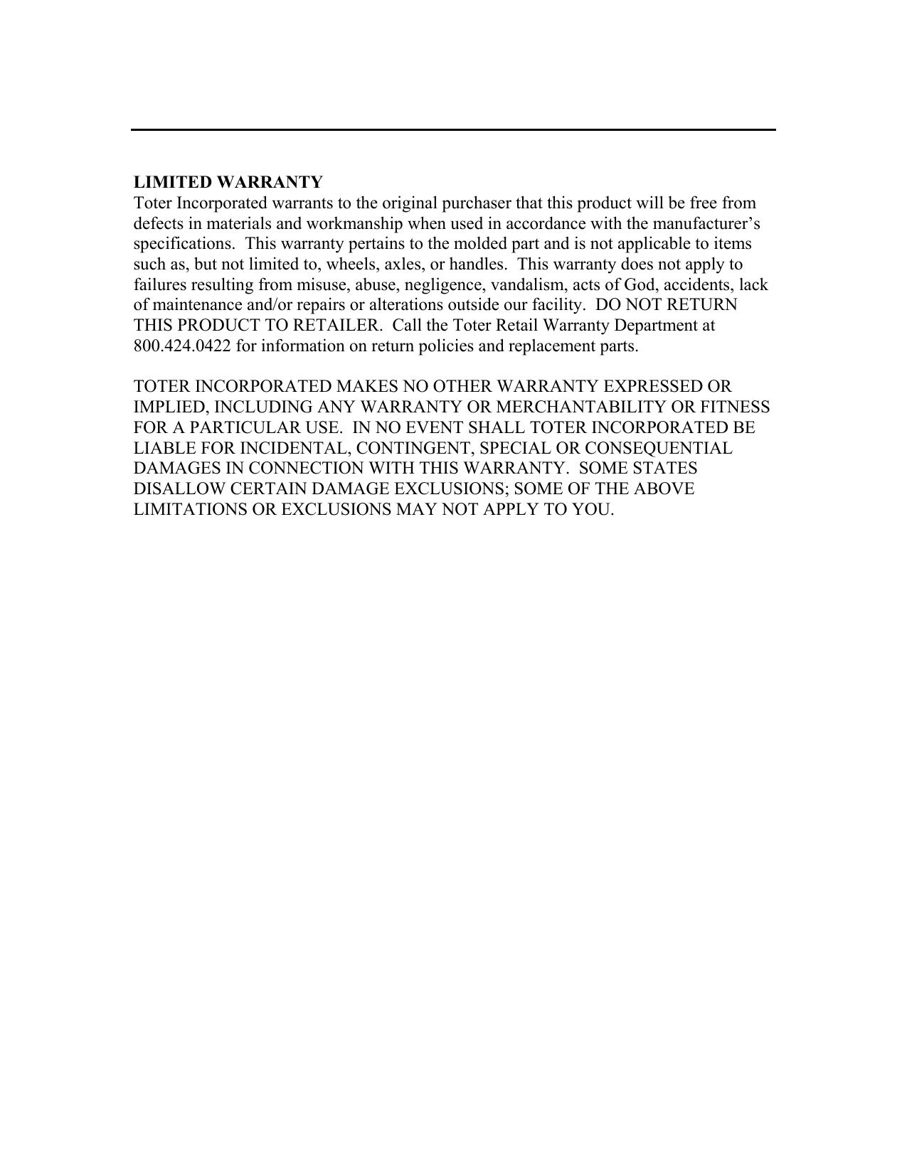 Warranty - pdf lowes com