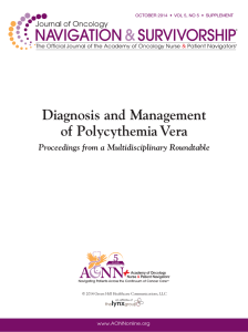 Diagnosis and Management of Polycythemia Vera